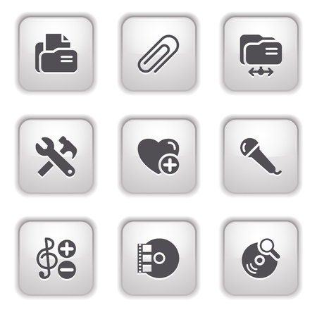 Gray button for internet 11 Vector