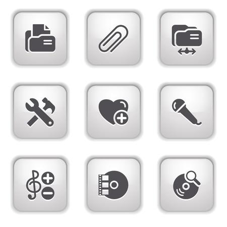 Gray button for internet 11 Stock Vector - 9393526