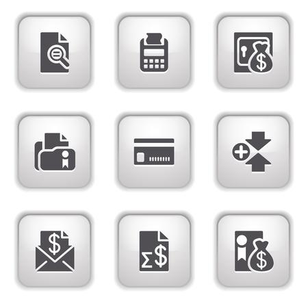 Gray button for internet 14 Vector