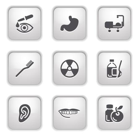 Gray button for internet 15 Stock Vector - 9393541