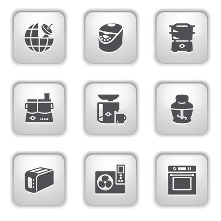 Gray button for internet 17 Stock Vector - 9393544