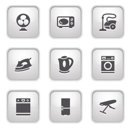Gray button for internet 18 Vector