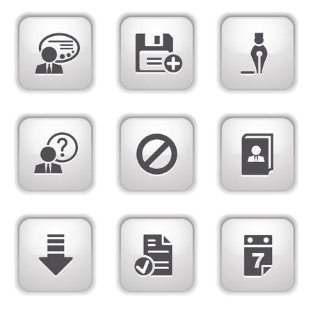 Gray button for internet 2 Vector