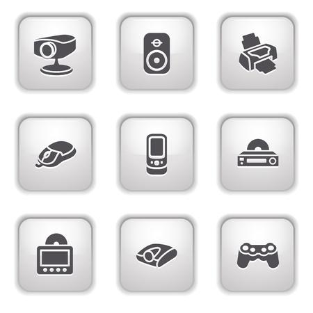 Gray button for internet 21 Vector