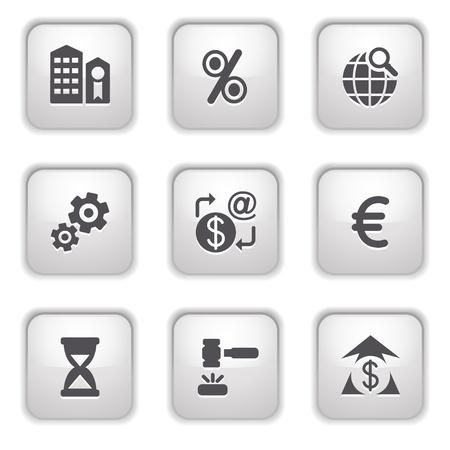 Gray button for internet 25 Vector
