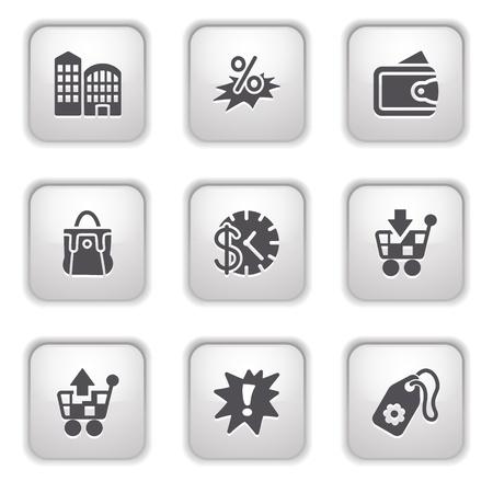 Gray button for internet 26 Stock Vector - 9393542