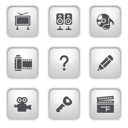 Gray button for internet 28 Vector