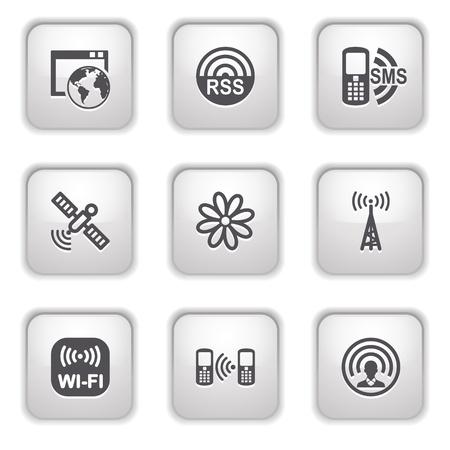 Gray button for internet 30 Vector