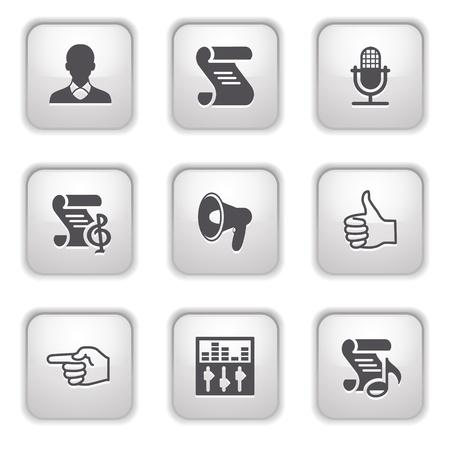 Gray button for internet 31 Vector