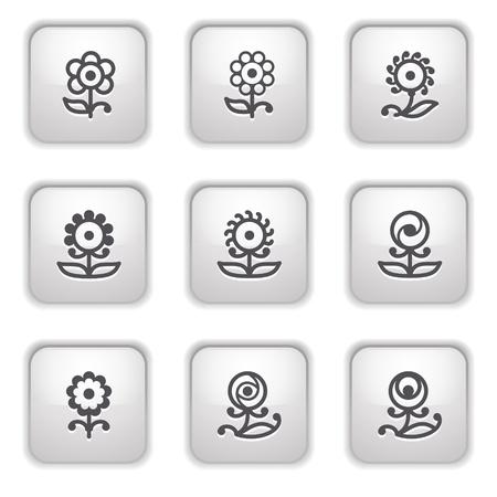 Gray button for internet 32 Stock Vector - 9393551