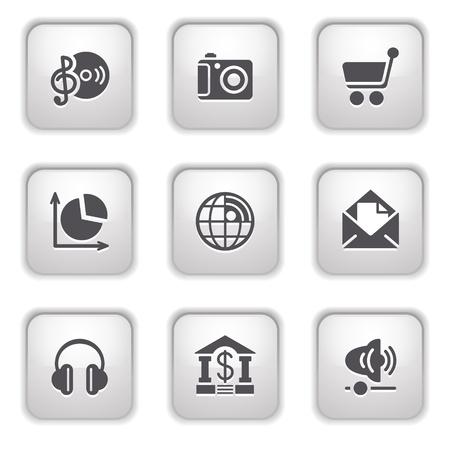 Gray button for internet 5 Stock Vector - 9393533