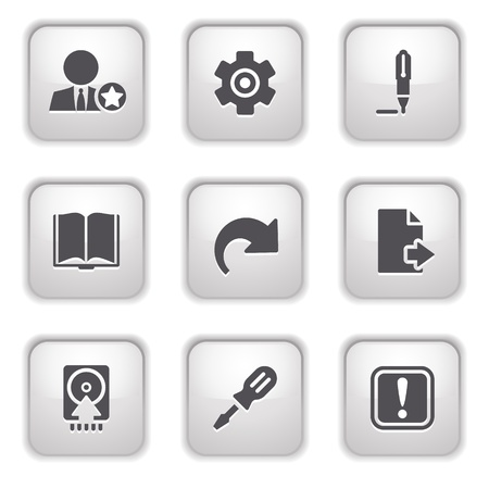 Gray button for internet 6 Vector