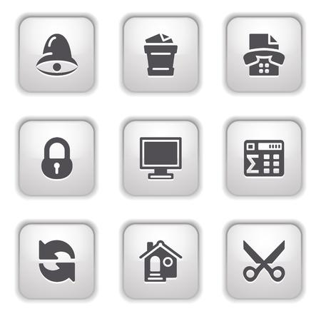 Gray button for internet 7 Stock Vector - 9393528