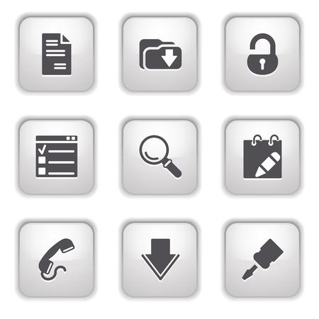 Gray button for internet 8 Stock Vector - 9393518