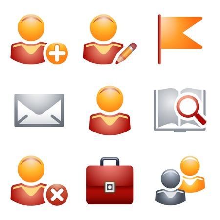 Iconos de color para Web 1 Ilustración de vector