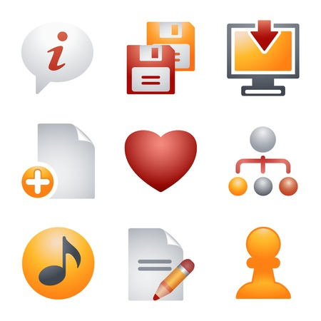 Color icons for website 10 Illustration