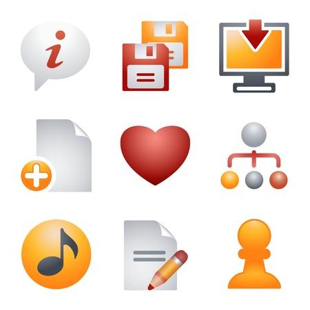 fdd: Color icons for website 10 Illustration