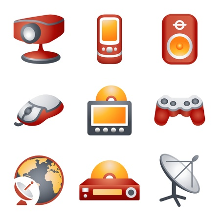 dvd player: Color icons for website 21