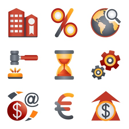 e auction: Color icons for website 25 Illustration