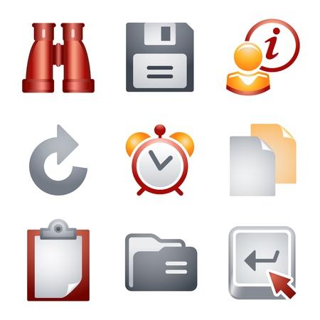 Iconos de color para el sitio Web 3