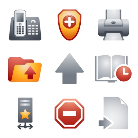 printers: Color icons for website 4 Illustration