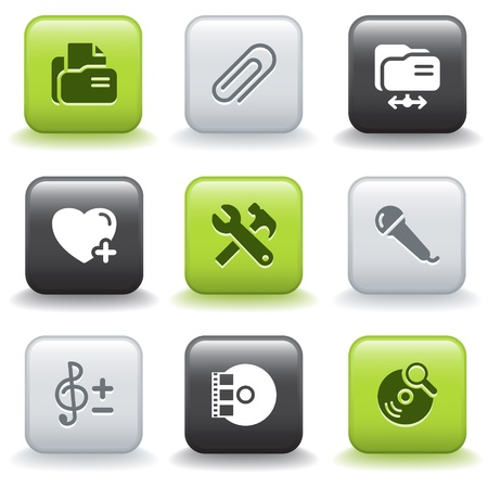Icons with buttons 11 Stock Vector - 9679165