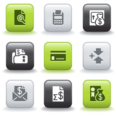 14: Iconos de botones 14 Vectores