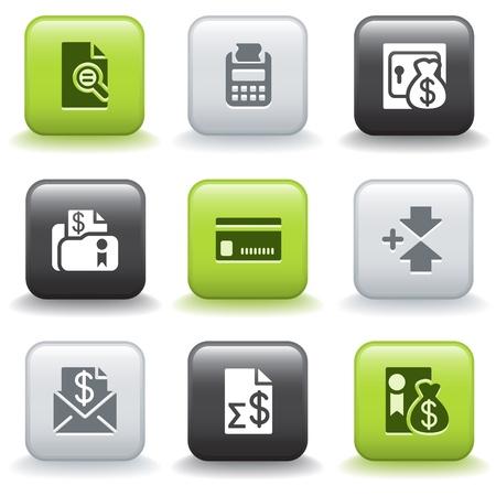 transakcji: Ikony z przyciskami 14 Ilustracja