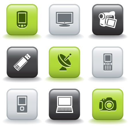Icons with buttons 16 Stock Vector - 9679168