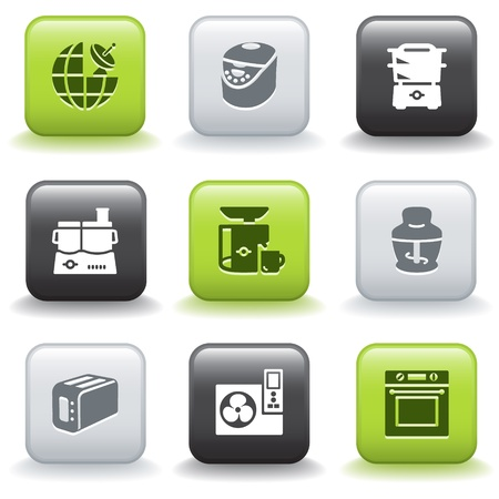 food processor: Icons with buttons 17