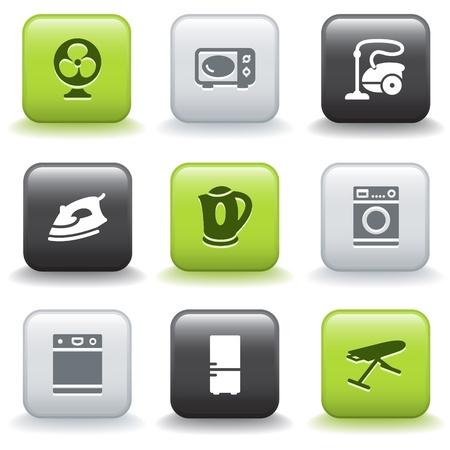 lavavajillas: Iconos con botones 18 Vectores