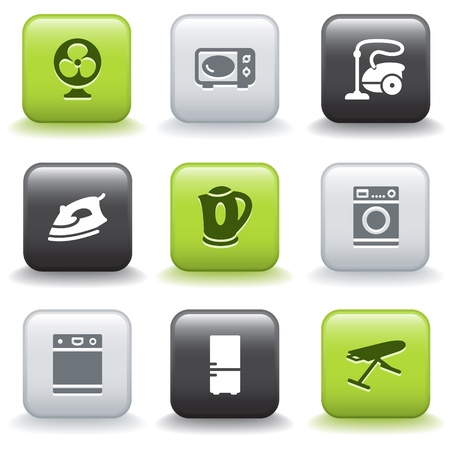Icons with buttons 18 Illustration