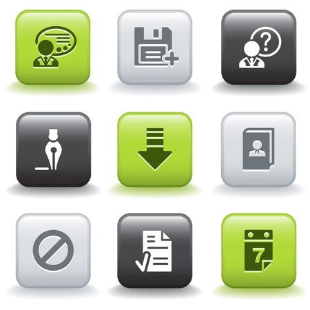 Icons with buttons 2 Vector