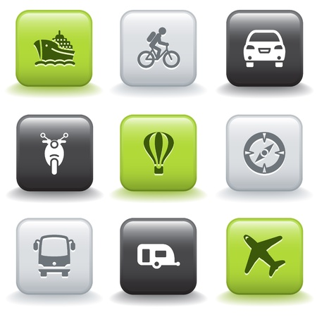 autobus: Icons with buttons 20