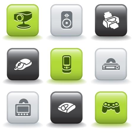 e commerce icon: Iconos con botones 21