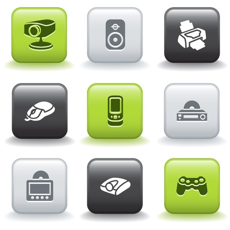 e commerce icon: Icons with buttons 21