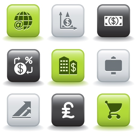 e shopping: Icons with buttons 23