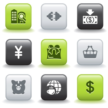 Icons with buttons 24 Vector