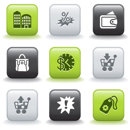 Icons with buttons 26 Stock Vector - 9679177