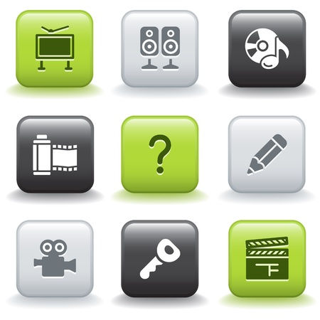 Icons with buttons 28 Vector