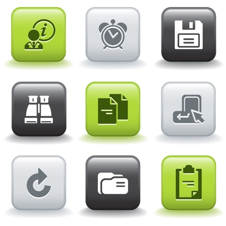 Icons with buttons 3 Vector