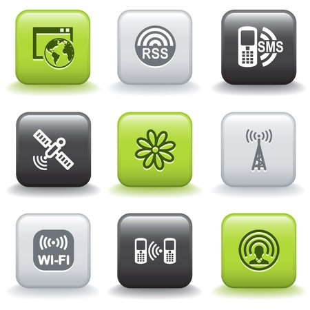Icons with buttons 30 Vector