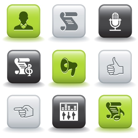 Icons with buttons 31 Vector