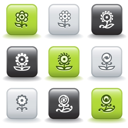 Icons with buttons 32 Stock Vector - 9679181