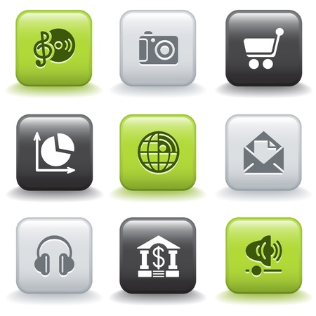 Icons with buttons 5 Vector