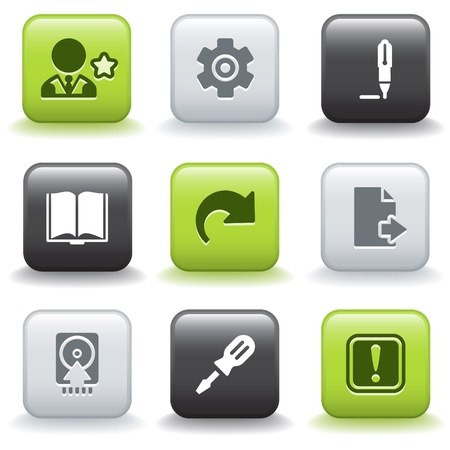 Icons with buttons 6 Иллюстрация
