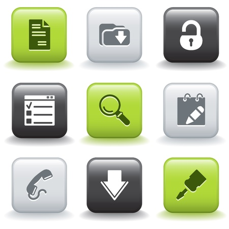 Icons with buttons 8 Vector