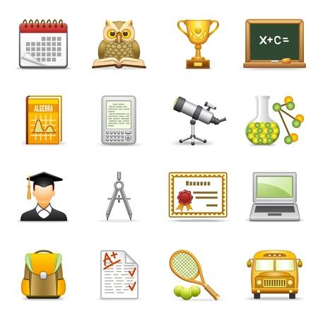 calendari: Icone di educazione.