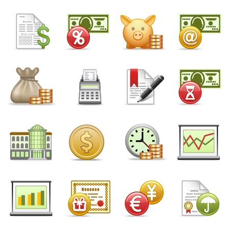 Taxes: Finance icons.