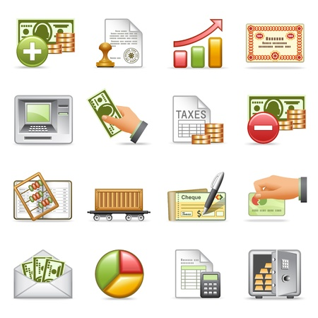 checking accounts: Finance icons, set 2.